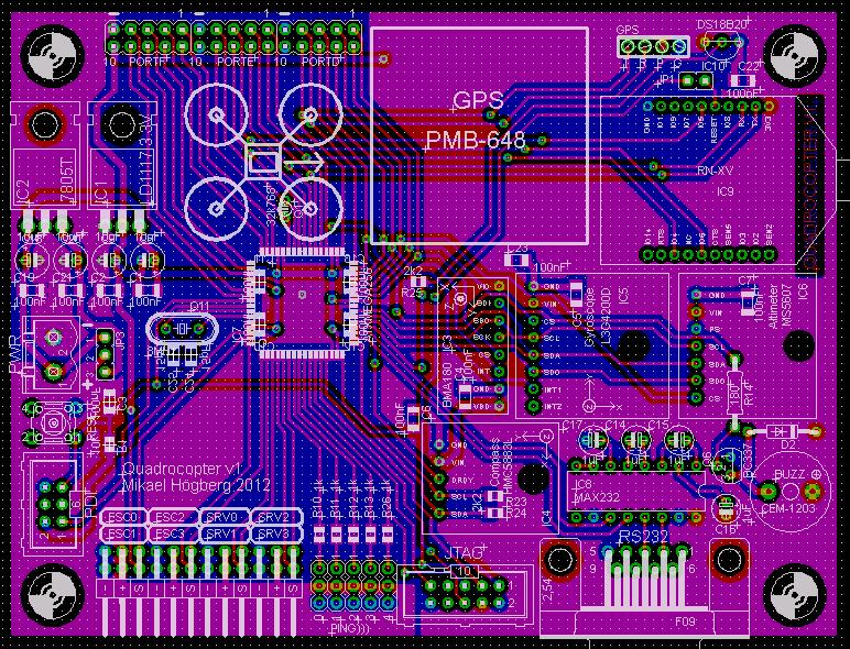 Quadro Copter main board PCB