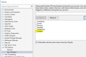 TDS Sync settings